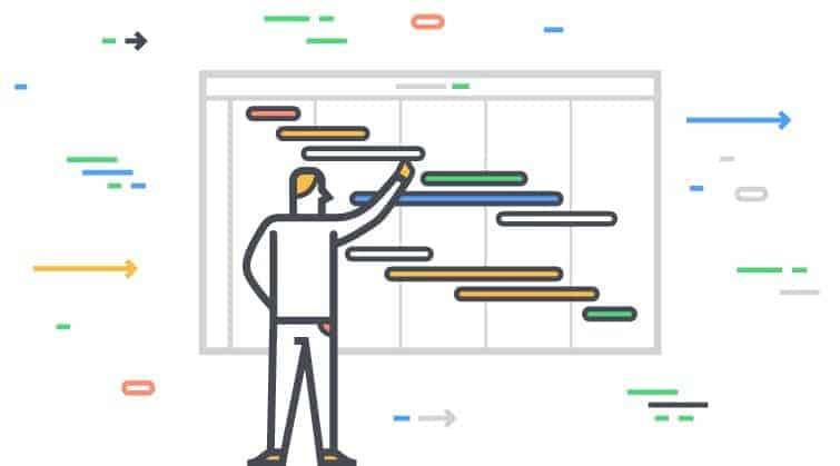 diagrama de gantt de una empresa