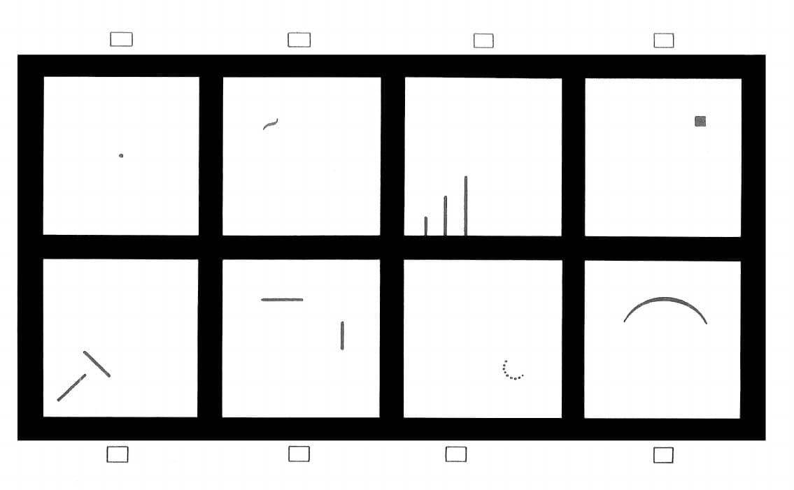 Ejemplo de un test de Wartegg.