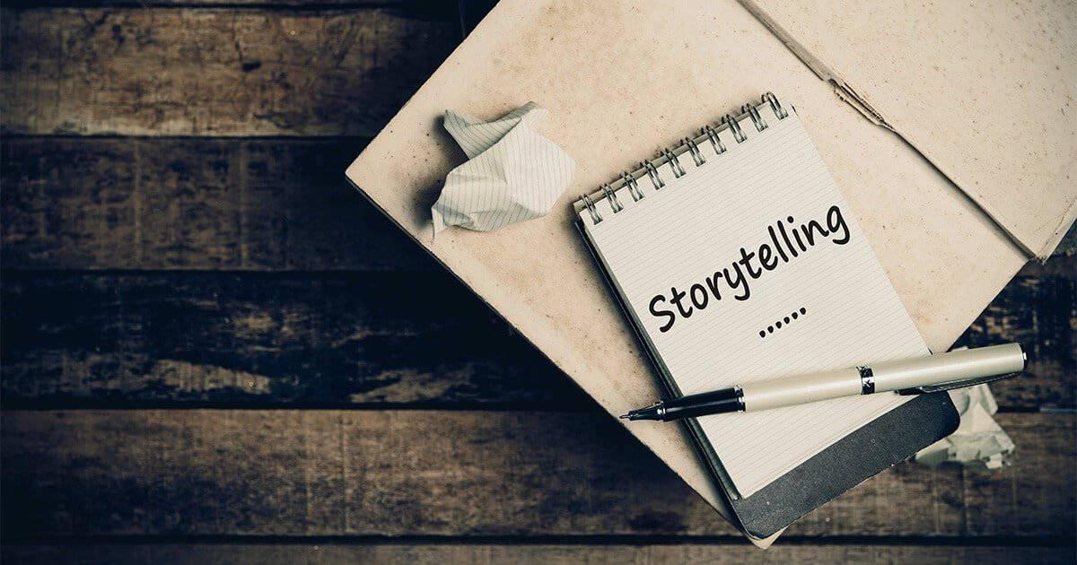 La estrategia de estos textos usa historias para contar cómo ha surgido una empresa