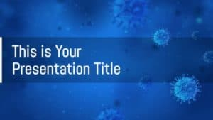 free medical powerpoint template or google slides theme with virus theme 720x405 1
